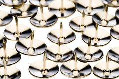 Rows of thumbtacks Stock Photography