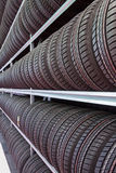 Rows of tires Stock Images