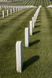 Rows of Tombstones Royalty Free Stock Image