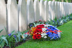 Rows of tombstones Stock Photos