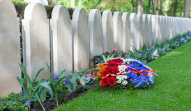 Rows of tombstones Royalty Free Stock Images