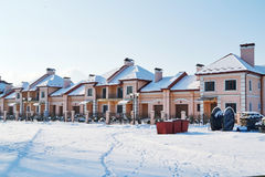 Rows townhouses stock image