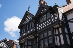 The Rows are Tudor Black and White Buildings in Chester the county city of Cheshire in England Stock Image