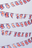 Rows of UK Union Flag Bunting Royalty Free Stock Image