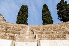Rows up Ancient Pompeii Stadium Stock Photos
