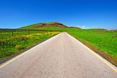 Road in Golan Stock Photos
