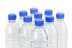 Rows of water bottles Stock Image