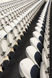Rows of white chairs Stock Image