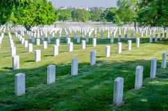 Rows of White Grave Stones. Arlington National Cemetery, rows of white grave stones royalty free stock photos