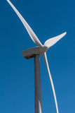 Rows of wind turbines capture wind for energy Royalty Free Stock Photos