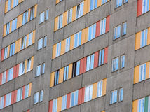 Rows of windows. Windows of block of flats Stock Image
