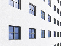 Rows of windows on building Royalty Free Stock Photo