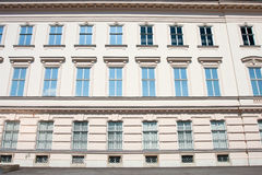 Rows of windows in Vienna. Royalty Free Stock Images