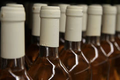Rows of wine bottles Royalty Free Stock Photo