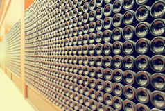 Rows of wine  bottles Royalty Free Stock Photos