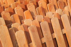 Rows of wooden fences. Stacked together for sale stock photography
