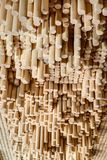 Rows of wooden rounded shanks Royalty Free Stock Photography
