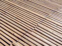 Rows in a wooden sports rostrum pattern texture Royalty Free Stock Photos