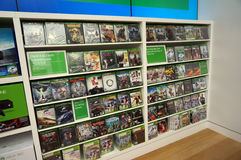 Rows of Xbox One on display inside Microsoft Windows Store Stock Photos