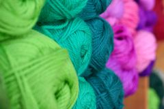 Rows of yarn Royalty Free Stock Image