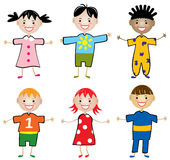 Rows of young children Stock Images