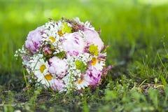 różowy bukiet ślub Obrazy Royalty Free