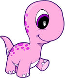 różowy dinozaurem Obrazy Royalty Free