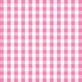 Różowy gingham tło Zdjęcia Stock