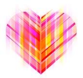 Różowy i czerwony abstrakcjonistyczny serce Obraz Royalty Free