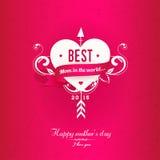 Różowy Mothers dnia kartka z pozdrowieniami Obrazy Stock