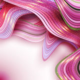 Różowy wektorowy abstrakcjonistyczny tło z fala Zdjęcia Stock
