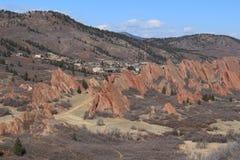 Roxborough delstatspark, Colorado Arkivfoto