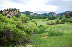 Roxborough Meadow and Rock Formations Royalty Free Stock Photo