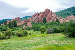 Roxborough Meadows Mountains and Spires Royalty Free Stock Images