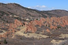 Roxborough State Park, Colorado. Roxborough State Park is a state park of Colorado, United States, known for dramatic red sandstone formations. The park is Stock Photo