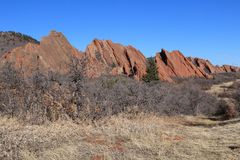 Roxborough State Park, Colorado. Roxborough State Park is a state park of Colorado, United States, known for dramatic red sandstone formations. The park is Royalty Free Stock Photo