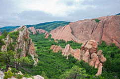 Roxborough Valley Woodlands and Rock Stock Images