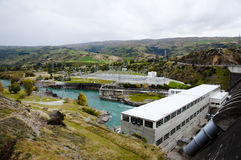 Roxburghdam - Nieuw Zeeland royalty-vrije stock afbeeldingen