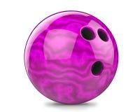 Roxo, bola de boliches Imagem de Stock Royalty Free
