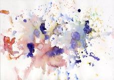 Roxo colorido abstrato do fundo da aguarela Fotos de Stock