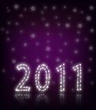 Roxo do ano novo 2011 Fotos de Stock Royalty Free