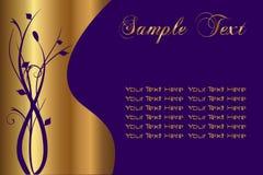 Roxo do texto da amostra Fotos de Stock Royalty Free