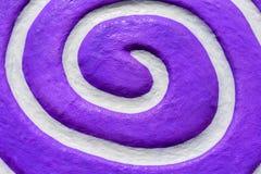 Roxo espiral branco Vista superior e fim acima Imagens de Stock Royalty Free