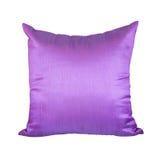 Roxo ou Violet Pillow Isolated no fundo branco imagem de stock