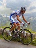 骑自行车者杰里米・ roy 库存图片