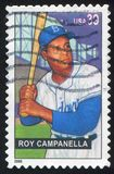 Roy Campanella. UNITED STATES - CIRCA 2006: stamp printed by United states, shows baseball, Roy Campanella, circa 2006 Royalty Free Stock Image
