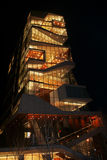 Roy e Diana Vagelos Education Center, CUMC, vista di notte Immagini Stock
