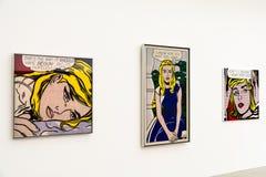 Roy Fox Lichtenstein Paintings At Mumok Museum Royalty Free Stock Photos