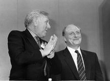 Roy Hattersley & Neil Kinnock Stock Photos