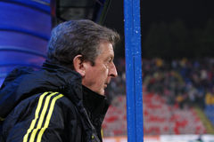 Roy Hodgson. The coach of Liverpool football team; Steaua - Liverpool match; Europa League Royalty Free Stock Photo